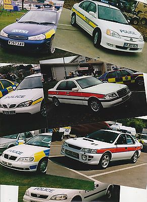 x12 Colour Photographs of Older POLICE Demonstrator Vehicles