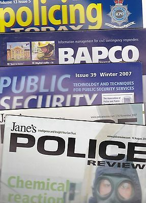 Five Police Related Magazines x5