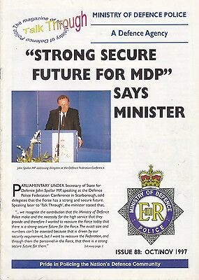 Ministry of Defence Police in-house Magazine 'Talk Through' - 1997
