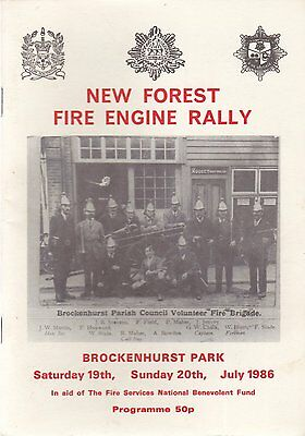 New Forest Engine Rally Programme 1986