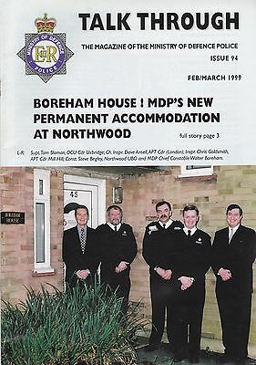 Ministry of Defence Police in-house Magazine 'Talk Through' - 1999