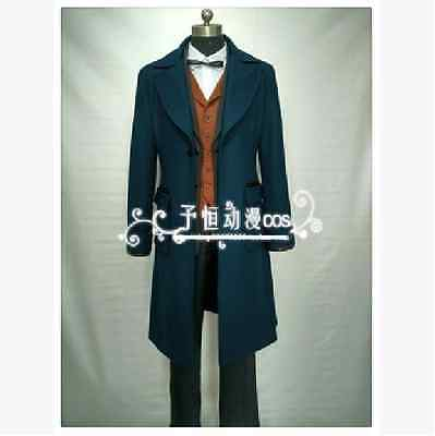 Fantastic Beasts and Where to Find Them Cosplay Trench Wool Newt Scamander Coat