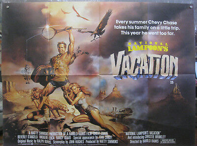 National Lampoons Vacation 1983 British Quad Movie Poster