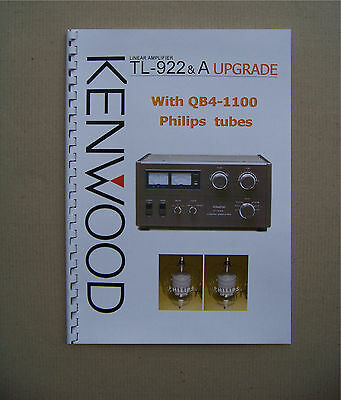 KENWOOD TL-922&A Amp. Upgrade with QB4-1100 (4-400A) tubes & CD
