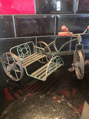 Vintage TIn Plate Bicycle Made For 2 Toy