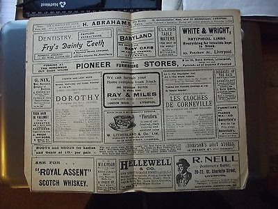Old Theatre Programme. Liverpool.1920
