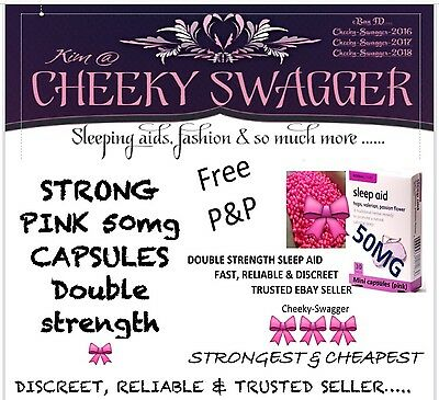 100x STRONG sleep aid SLEEPING pills tablets 50mg Pink Capsules LOW STOCK/-----