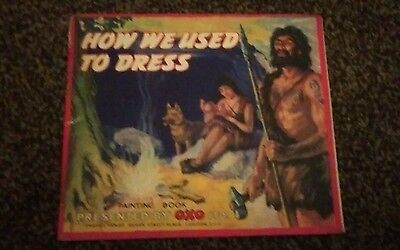 1950's Vintage OXO Advertising ** HOW WE USED TO DRESS ** Painting Book