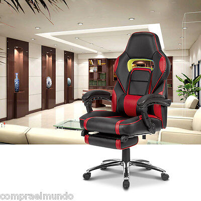 Racing Style Reclining Computer Gaming Chair Ergonomic High-Back Faux Leather