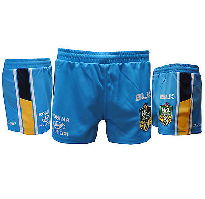 Official NRL Gold Coast Titans Home Playing Shorts 2XL