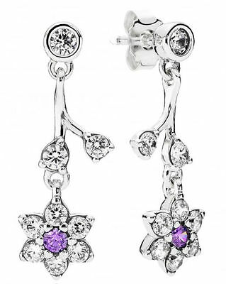 Pandora Silver Forget Me Not Drop Earrings S925 ALE Genuine