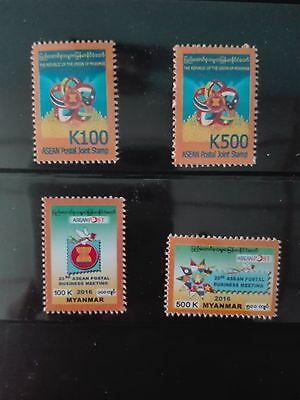 Mint Myanmar ASEAN joint stamps and 23rd ASEAN business meeting
