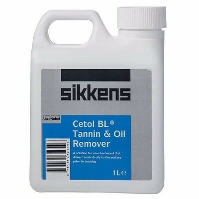 Sikkens CETOL BL TANNIN & OIL REMOVER 1L Fast Acting, Water Proof, Outdoor Use