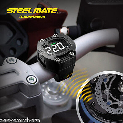 Hot Steelmate TP-90 LCD Display TPMS Motorcycle Tire Pressure Monitor 2 Sensor