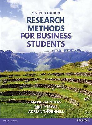 Research Methods for Business Students, Mark Saunders, Philip Lewis und Adrian T