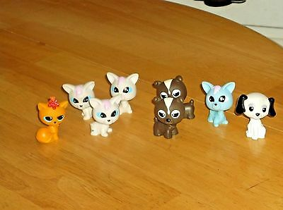 Vintage Mannix Bobble Head Pet Figures Lot of 8 Figures Cats & Dog Pre-LPS