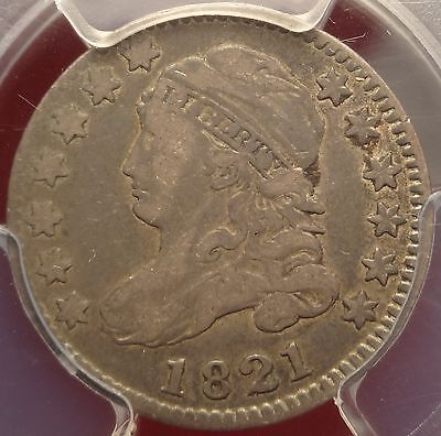 PCGS VF25 1821 Capped Bust Dime Large Date 5c Variety
