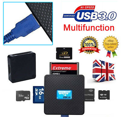 All In 1 Card Reader USB 3.0 Compact Flash Multi Micro SD SDXC TF M2 CF Adapter