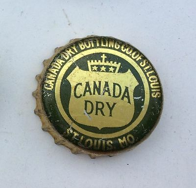 1940s CANADA DRY SODA bottle cap crown can acl cone sign flat St Louis MO Label