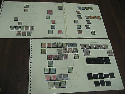 Collection 1881-1911 Used Victoria Stamps Sg Cat £3679 Display Pages