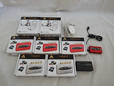 Job lot of 10 x various Behringer electronic Items & Gadgets - UCG102 UCA222