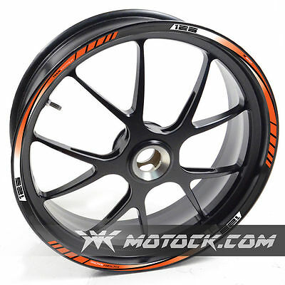 Wheel Ruken Rim Tapes Sticker Stripes For Ktm Duke 125 Orange Decal Adhesive