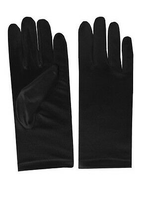 Short Black Child's Gloves New In Package Soft Lightweight