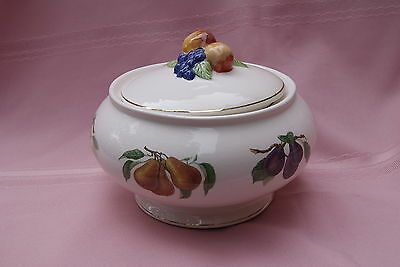 Collectible Teleflora Ceramic Covered Dish Serving Bowl Fall Fruit Holiday Gift