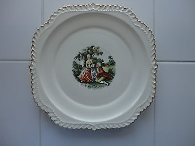 The Harker Pottery Co. Plate 22 KT. Gold Made in the USA