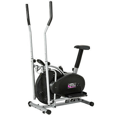 2 En 1 Crosstrainer Ergometre Appareil De Fitness Stepper Exerciseur Cardio Gym