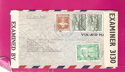 BOLIVIA  1940s Airmail cover  CENSORED