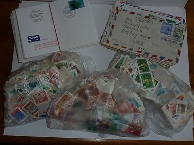 Lot: Old envelopes, envelopes, first day covers, and 3,000 stamps.