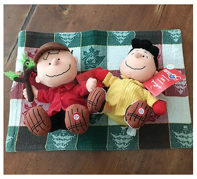 NWT Peanuts Charlie Brown Lucy Talking Plus Stuffed Animals New Christmas