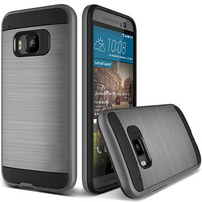 Neo Hybrid Silicone TPU + Plastic Brushed Tough Slim Armor Case For HTC one M9
