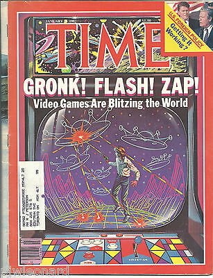 TIME MAGAZINE - Jan 1982, Video Games Are Blitzing the World