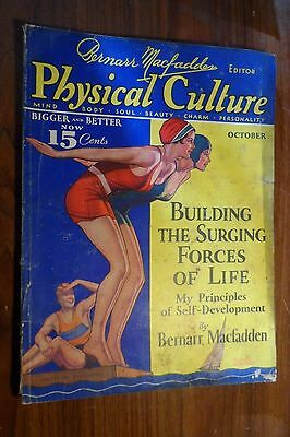Physical Culture Magazine 10/1932 Brenarr MacFadden Swimming Cover Wheaties Ad