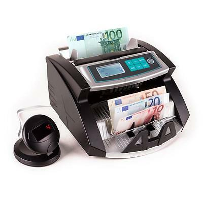 Currency Note Counting Machine Money Uv Magnetic Fraud Check Machine - Black