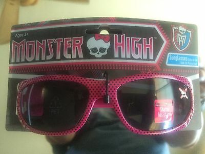 Monster High girls sunglasses Various Styles Bejeweled Pink Black White *New*