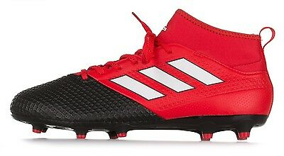 wholesale dealer 74bf1 fa30a ADIDAS ACE 17.3 PRIMEMESH FG Soccer Shoes Red / Black All Sizes Men-BA8506-