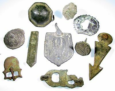 Scarce Lot Of 10 Roman To Medieval Bronze Artifacts - 2101
