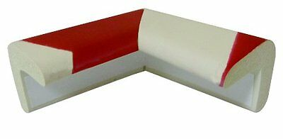 VISO Red & White Foam Corner Protection Bumper Baby Proof Safety Edge Table