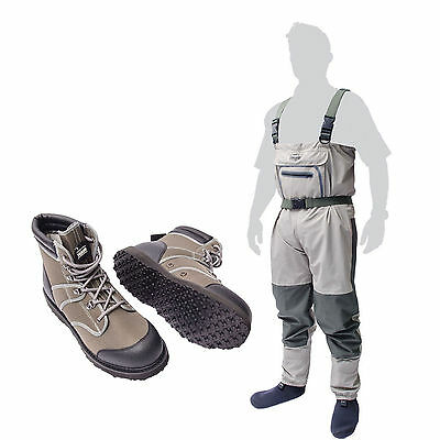 Leeda Volare Breathable Chest Waders With Wading Boots
