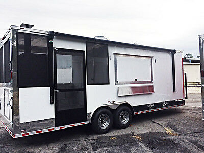 2017 Bbq Concession Trailer With Smoker Installed, Screened Porch, Sink Package