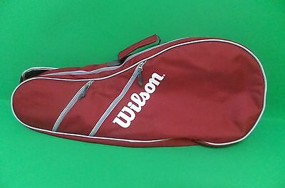 Wilson Tennis Racquet Cover and Carrying Case-Red- Free Shipping!