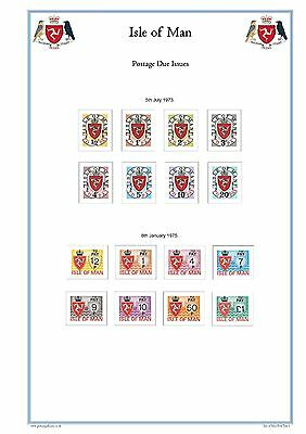Isle of Man Full Colour Illustrated Stamp Album Pages 1958-2018 (359 Pgs) on CD