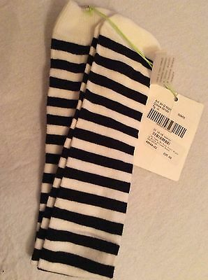 Bnwt Miss Grant So Twee Black &white Long Socks Age 7-8 ☃❄️☃❄Tag Price £25