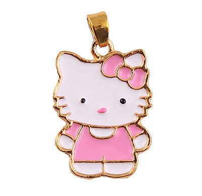Hello Kitty Large Charm Pendant or Charm, 24K Gold Plated, HIGH Quality, Chain!