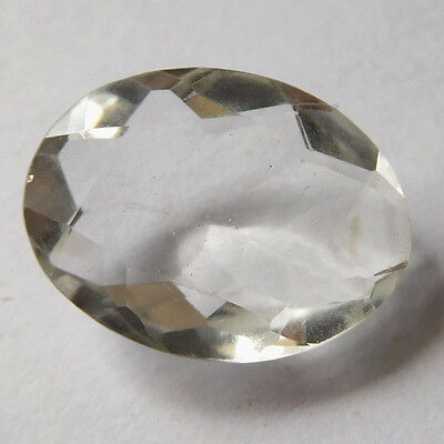 Genuine 16x12 mm CRYSTAL QUARTZ Oval Faceted Gemstone 7.05 Carats For Jewellery