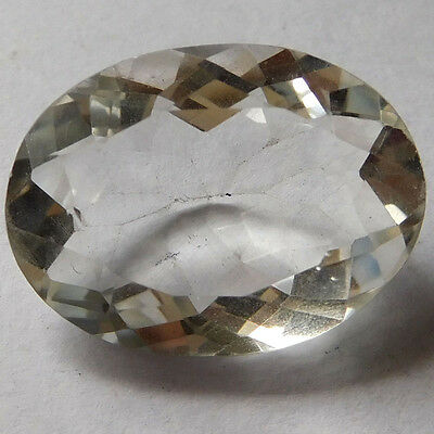 Fantastic Real 20x15 mm CRYSTAL QUARTZ Oval Faceted Gemstone 14.3 Cts eBay Store
