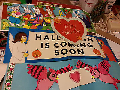 Vintage  Classroom Decorations Bulletin Board Posters Banners Holiday
